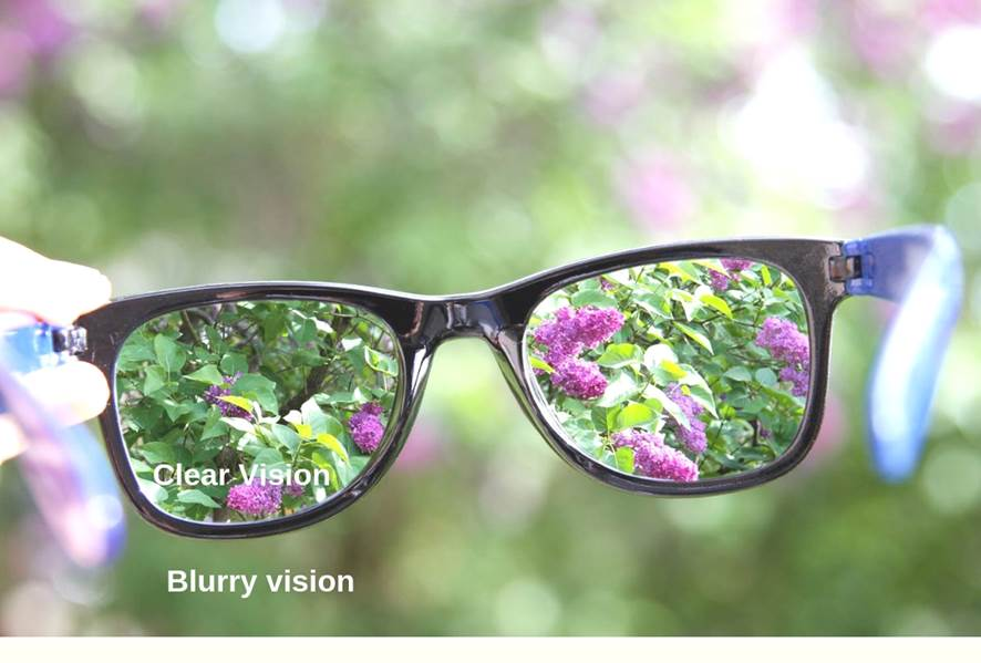 blurred versus clear vision