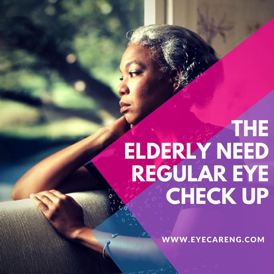 The elderly need regular eye check up