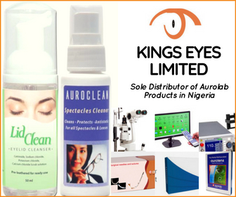 Kings Eyes Limited, Sole Distributor of Aurolab Products in Nigeria