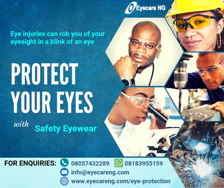 Eye injuries can rob you of your eyesight in a blink of an eye. Protect your eyes with safety eyewear